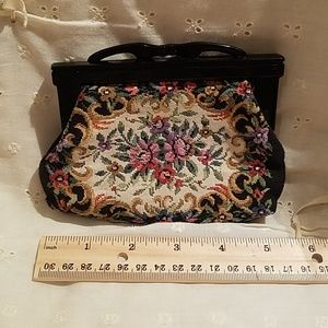Handbags - Vintage Mini Black Carpet Clutch